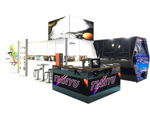 Venta al por mayor TIANYU M Series System Used Trade Show Booth custom indoor led screen wall