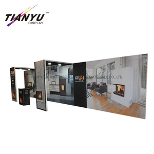 Venta caliente Advertising10X20 Custom Logo Trade Show Display Tension Fabric Exhibition Cabina para ventas